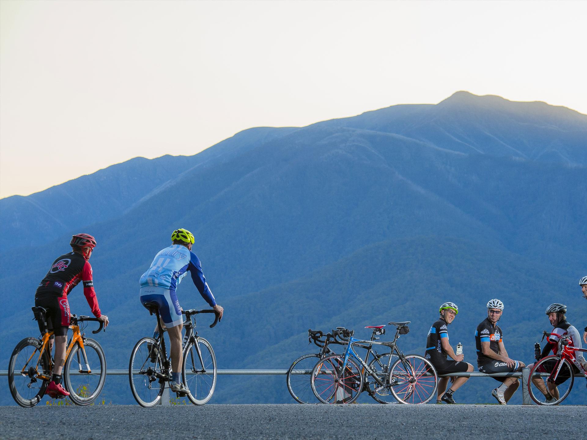 Cycling Tawonga Gap